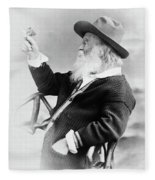 Walt Whitman (1819-1892) Fleece Blanket
