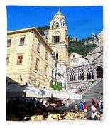 Views From The Amalfi Coast In Italy Fleece Blanket