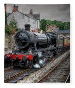 3802 At Llangollen Station Fleece Blanket