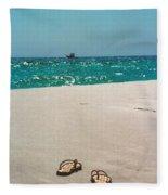 #384 33a Sandals On The Beach - Destin Florida Fleece Blanket