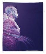 Human Anatomy Fleece Blanket