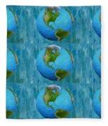 3d Render Of Planet Earth 1 Fleece Blanket