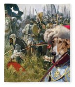 Chart Polski - Polish Greyhound Art Canvas Print Fleece Blanket