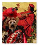 Silky Terrier Art Canvas Print Fleece Blanket
