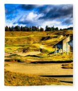 #18 At Chambers Bay Golf Course - Location Of The 2015 U.s. Open Tournament Fleece Blanket