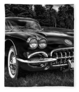 1960 Chevy Corvette Fleece Blanket