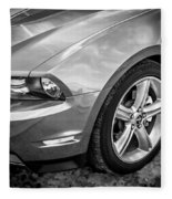 2010 Ford Mustang Convertible Bw Fleece Blanket