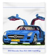 2010 Mercedes Benz S L S Gull-wing Fleece Blanket