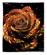 4 4 Echo Rose Fleece Blanket