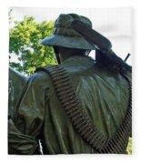 A Soldier's Hand Fleece Blanket