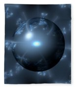 Abstract Blue Globe Fleece Blanket