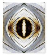 African Moon Abstract Fleece Blanket