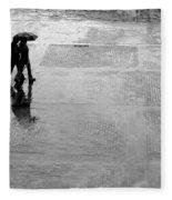 Alone In The Rain Fleece Blanket