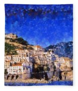 Amalfi Town In Italy Fleece Blanket