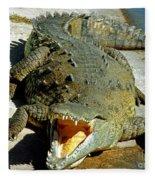 American Crocodile Fleece Blanket