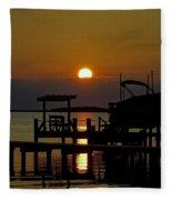 An Outer Banks North Carolina Sunset Fleece Blanket