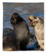 Antarctic Fur Seals Fleece Blanket
