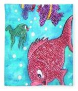 Art Fish Fleece Blanket