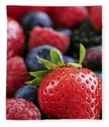 Assorted Fresh Berries Fleece Blanket
