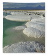 Atacama Salt Lake Near San Pedro De Fleece Blanket