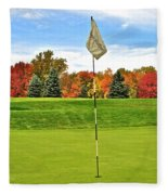 Autumn Golf Fleece Blanket