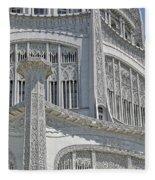 Bahai Temple Wilmette Fleece Blanket
