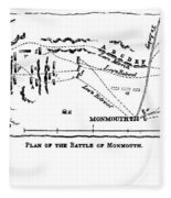 Battle Of Monmouth, 1778 Fleece Blanket
