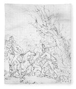 Battle Of Princeton, 1777 Fleece Blanket