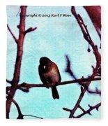 Bird In Tree Fleece Blanket