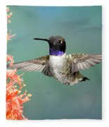 Black-chinned Hummingbird Fleece Blanket