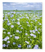 Blooming Flax Field Fleece Blanket