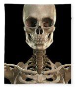 Bones Of The Head And Upper Thorax Fleece Blanket