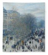 Boulevard Des Capucines Fleece Blanket
