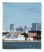 Buildings At The Waterfront, San Fleece Blanket