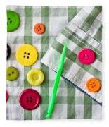 Buttons Fleece Blanket