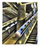 Canary Wharf Station Fleece Blanket