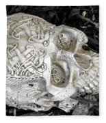 Celtic Skulls Symbolic Pathway To The Other World Fleece Blanket