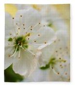 Cherry Flowers Fleece Blanket