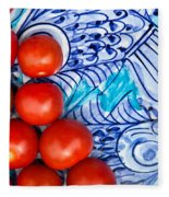 Cherry Tomatoes Fleece Blanket