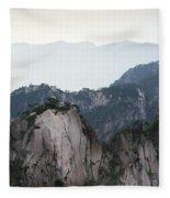 Chinese White Pine On Mt. Huangshan Fleece Blanket