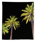 4 Christmas Palms Fleece Blanket