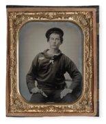 Civil War Sailor, C1863 Fleece Blanket