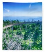 Clingmans Dome - Great Smoky Mountains National Park Fleece Blanket