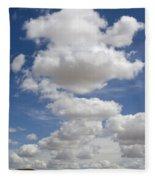 Clouds And Field Fleece Blanket
