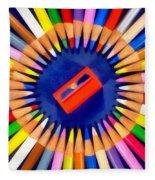 Colorful Pencils Fleece Blanket