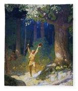Cooper: Deerslayer, 1925 Fleece Blanket