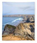 Cornwall - Bedruthan Steps Fleece Blanket