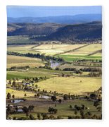 Country Scenic Fleece Blanket