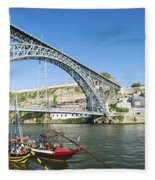 Dom Luis Bridge Porto Portugal Fleece Blanket