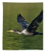 Double Crested Cormorant Fleece Blanket